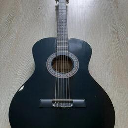 Акустические и классические гитары - Гитара чёрная классическая, 0