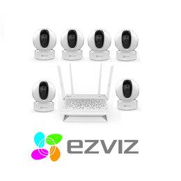 Камеры видеонаблюдения - Комплект на 6камер ezviz C6CN+Vault Plus, 0