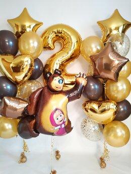 """Воздушные шары - Композиция """"Маша и Медведь на День Рождения"""", 0"""