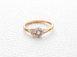 Кольца и перстни - Кольцо с 16 бриллиантами из красного золота, 0