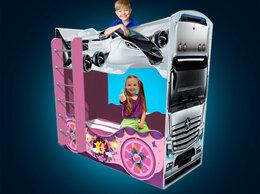 Кроватки - Двухъярусная кровать машина детская кровать для…, 0
