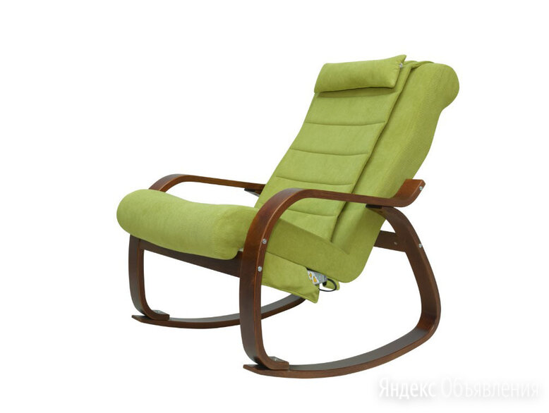 Массажное кресло-качалка для отдыха EGO Relax EG2005 Микрофибра Оливковый по цене 36400₽ - Массажные кресла, фото 0
