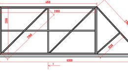 Заборы и ворота - Полотно для откатных ворот 4000*2000, 0