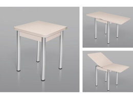 Столы и столики - Стол ломберный шимо светлый + ноги хром,…, 0
