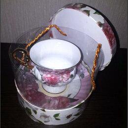 Подарочные наборы - Продаю чайную пару премиум-класса «Розовая роза» (фарфор), 0
