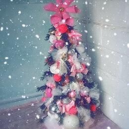 Искусственные растения - Ёлка новогодняя в розовом цвете), 0