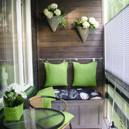 Фактурные декоративные покрытия - Декоративная отделка балкона/лоджии деревом, 0