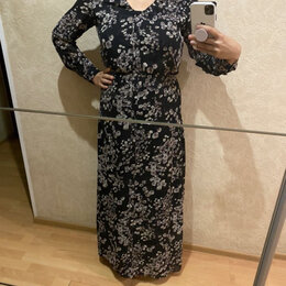 Платья - Платье в пол в сиреневый цветочек 167 рост, 0
