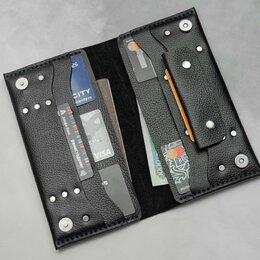 Кошельки - Портмоне на магнитах с отделом для монет из кожи, 0