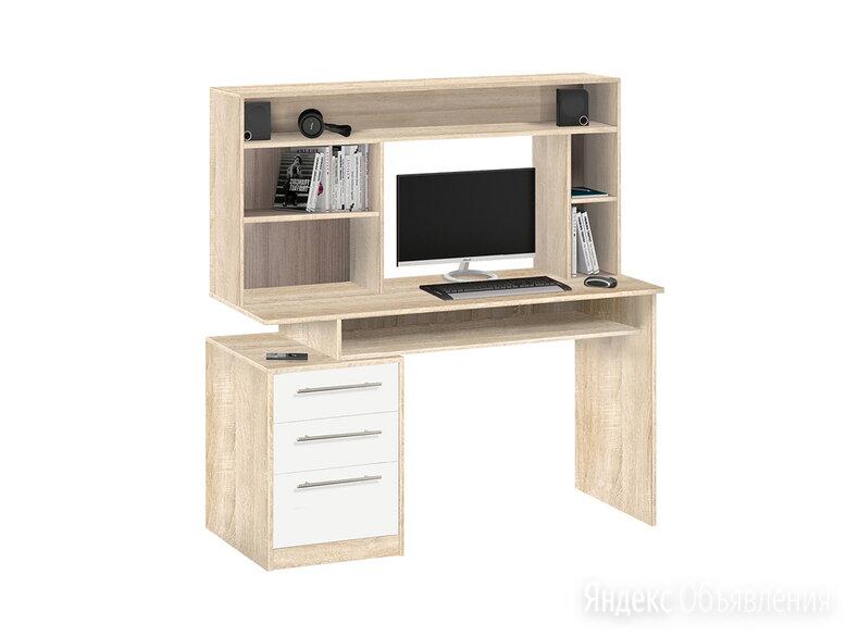 Стол компьютерный с настольной полкой 10.06 по цене 10490₽ - Компьютерные и письменные столы, фото 0
