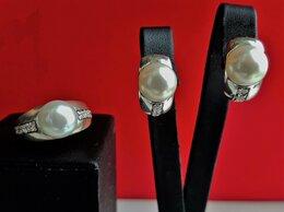 Комплекты - Комплект серебро с натуральным жемчугом, 0