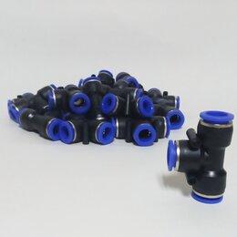 Комплектующие - Тройник для пневмошлангов 12х8 Т-образный, 0