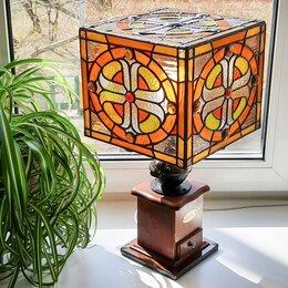 """Настольные лампы и светильники - """"Кофейная"""" настольная лампа из витражного стекла, 0"""