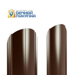 Заборы, ворота и элементы - Штакетник металлический полукруглый ДВС PE 0,45 мм, 0