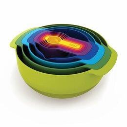 Блюда, салатники и соусники - Миски разноцветные 9 штук Nest 9, 0