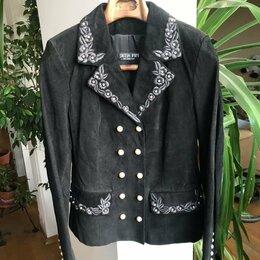 Куртки - Пиджак новый, натуральная замша, 0