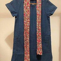 Платья - Джинсовое платье новое (платок в подарок), 0