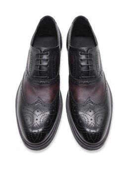 Туфли - Темно-коричневые оксфорды, 0