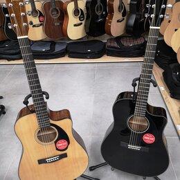 Акустические и классические гитары - Электро-акустики Fender CD-60SCE (две расцветки), 0
