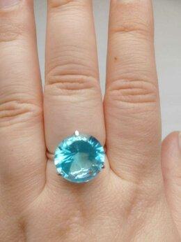 Кольца и перстни - Кольцо из серебра с голубой вставкой 18,5, 0
