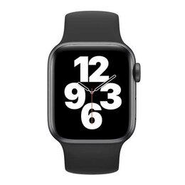 Аксессуары для умных часов и браслетов - Монобраслет для Apple watch 44mm Black Solo Loop, 0