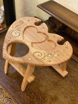 Столы и столики - Винный столик «Сердечко». , 0