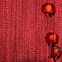 Шторы - Нитяные шторы кисея Portgallery однотонные с ромбами -плотные, 0
