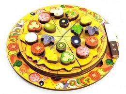 Развивающие игрушки - Пицца Деревянная развивающая игрушка новая, 0