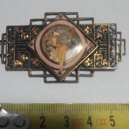 Броши - брошь старинная коллекционная ,латунь,Германия, 0