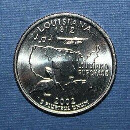 Банкноты - 25 центов (квотер) США 2002р Луизиана, 0