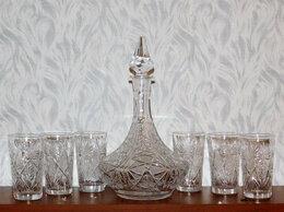 Кувшины и графины - Хрустальный графин со стаканами, СССР., 0