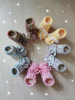 Носки - Вязаные детские Пинеткт (ручной работы) , 0