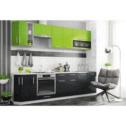 Мебель для кухни - Модульный кухонный гарнитур «Олива» 2800 (черный…, 0