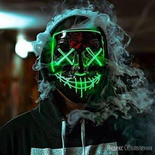 Неоновая маска Судная ночь по цене 490₽ - Новогодние фигурки и сувениры, фото 0