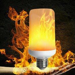 Ночники и декоративные светильники - Светодиодная лампа с эффектом пламени (новая), 0