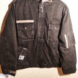 Куртки - Новая зимняя джинсовая куртка  в стиле М-65   50-52 р, 0