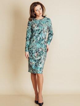 Платья - Бирюзовое платье TopDesign B6 020, 0