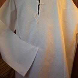 Рубашки - Новая крестьянская рубаха на завязках, 0