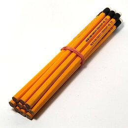"""Канцелярские принадлежности - Набор чернографитных карандашей """"CENTRUM"""" с ластиком, 0"""