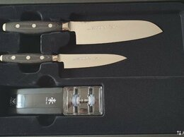 Наборы ножей - Набор из 2-х кухонных ножей с точилкой,yaxell, Gou, 0
