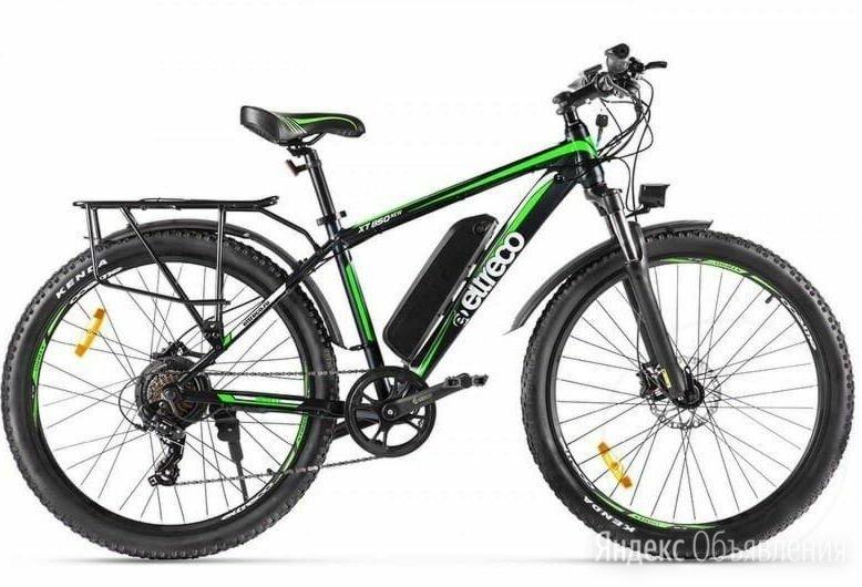 Электровелосипед Eltreco XT 850 new черно-зеленый по цене 72900₽ - Мототехника и электровелосипеды, фото 0