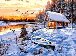 Раскраски и роспись - Картины по номерам Paintboy Домик у зимнего озера, 0