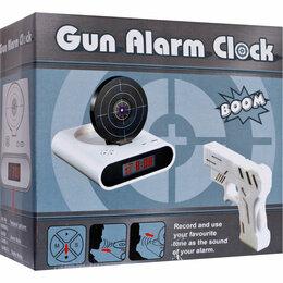 Часы настольные и каминные - Будильник с мишенью Gun Alarm Clock + пистолет, 0