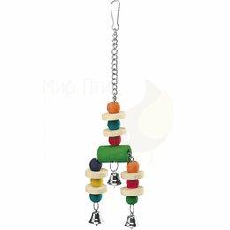 Игрушки и декор  - Деревянная игрушка для попугаев PA 4092 - Аксессуары для клеток, 0