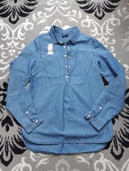 Рубашки и блузы - Джинсовая рубашка на девочку 10-11 лет, 0