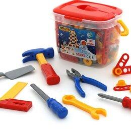 Детские наборы инструментов - Полесье 47175 Набор инструментов №3 (132эл. в ведёрке), 0