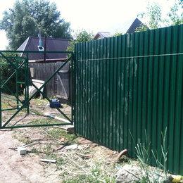 Заборы, ворота и элементы - Заборы и навесы из профнастила , 0
