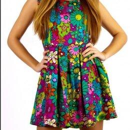 Платья - Новое, женское платье яркое и пестрое, две расцветки, 0