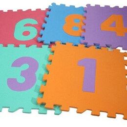 "Матрасы -  Коврик набор матов-пазлов 10шт, мягкие, 32х32см, ""Цифры"", 0"
