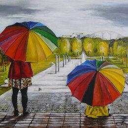 """Картины, постеры, гобелены, панно - Картина """"Зонтики""""., 0"""